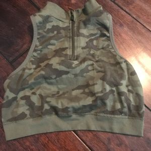 Tops - Camouflage Workout Crop